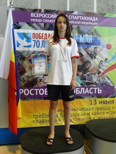 Виктория Носова – призер Спартакиады учащихся России по плаванию